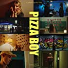 Moltas Palm Steneroth, Mats Holmsen, Jeanett Espedal, and Victor Lenas Jacobsson in Pizza Boy (2021)