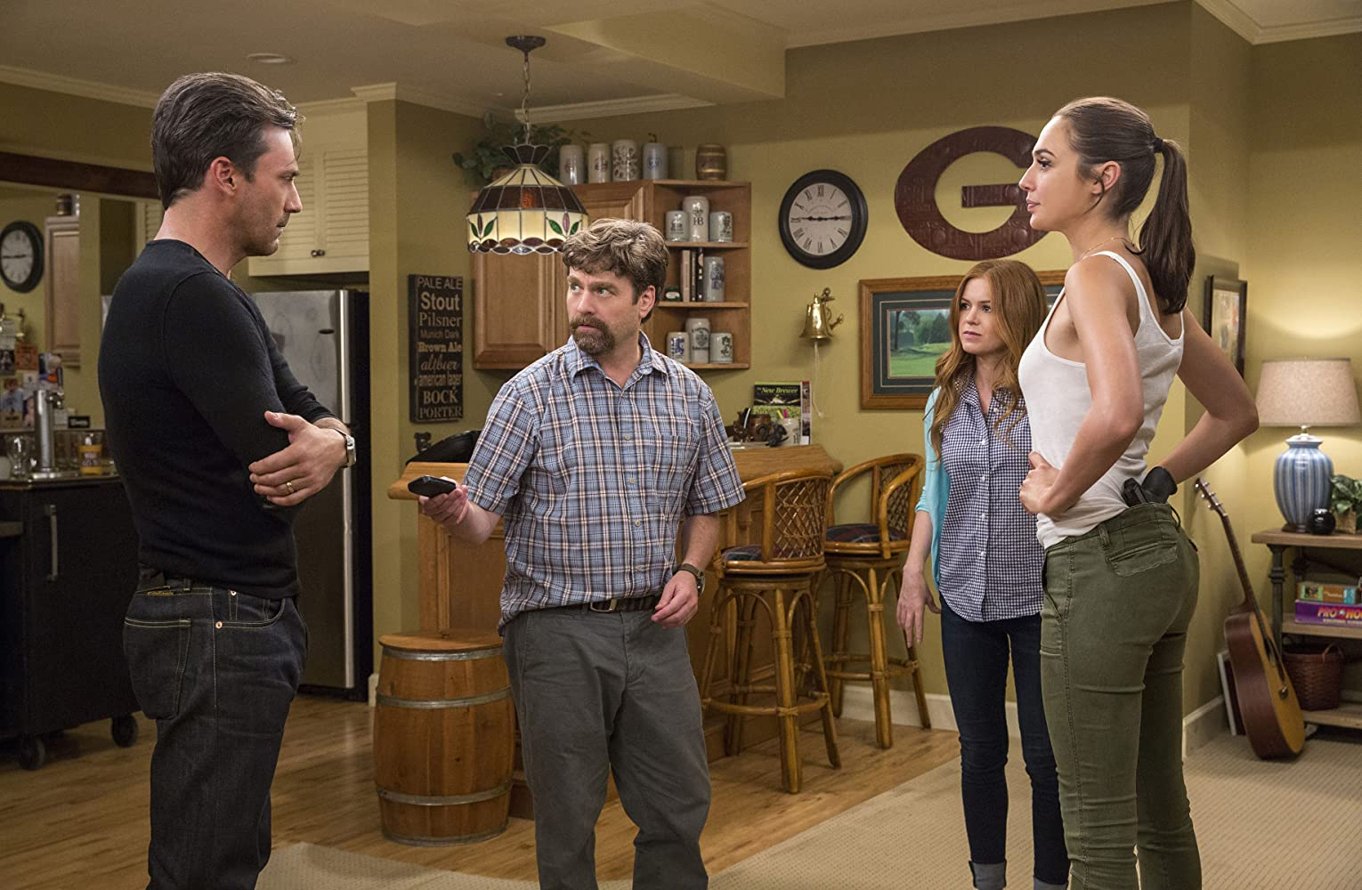 Isla Fisher, Zach Galifianakis, Jon Hamm, and Gal Gadot in Keeping Up with the Joneses (2016)