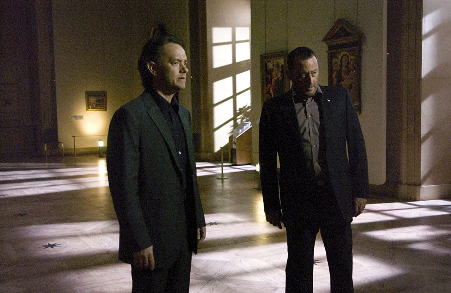 Tom Hanks and Jean Reno in The Da Vinci Code (2006)