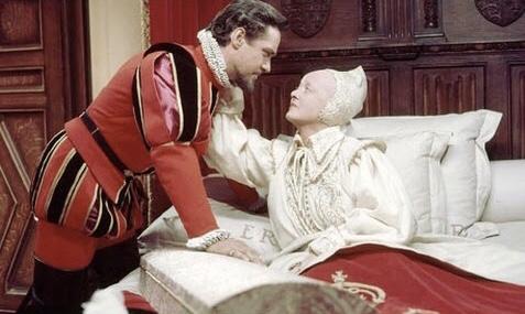 Bette Davis and Richard Todd in The Virgin Queen (1955)