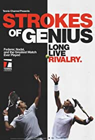Roger Federer and Rafael Nadal in Strokes of Genius (2018)