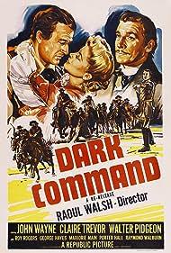 John Wayne, Walter Pidgeon, and Claire Trevor in Dark Command (1940)