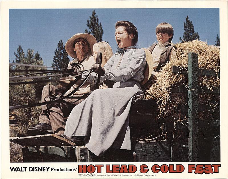 Jim Dale, Debbie Lytton, Michael Sharrett, and Karen Valentine in Hot Lead and Cold Feet (1978)