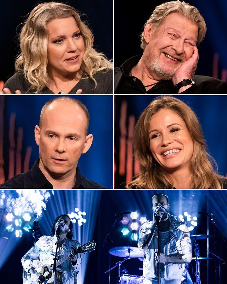 Skavlan Rolf Lassgard Carina Bergfeldt Geir Oustorp Ida Ekblad Vincent Pontare Salem Al Fakir Tv Episode 2020 Imdb