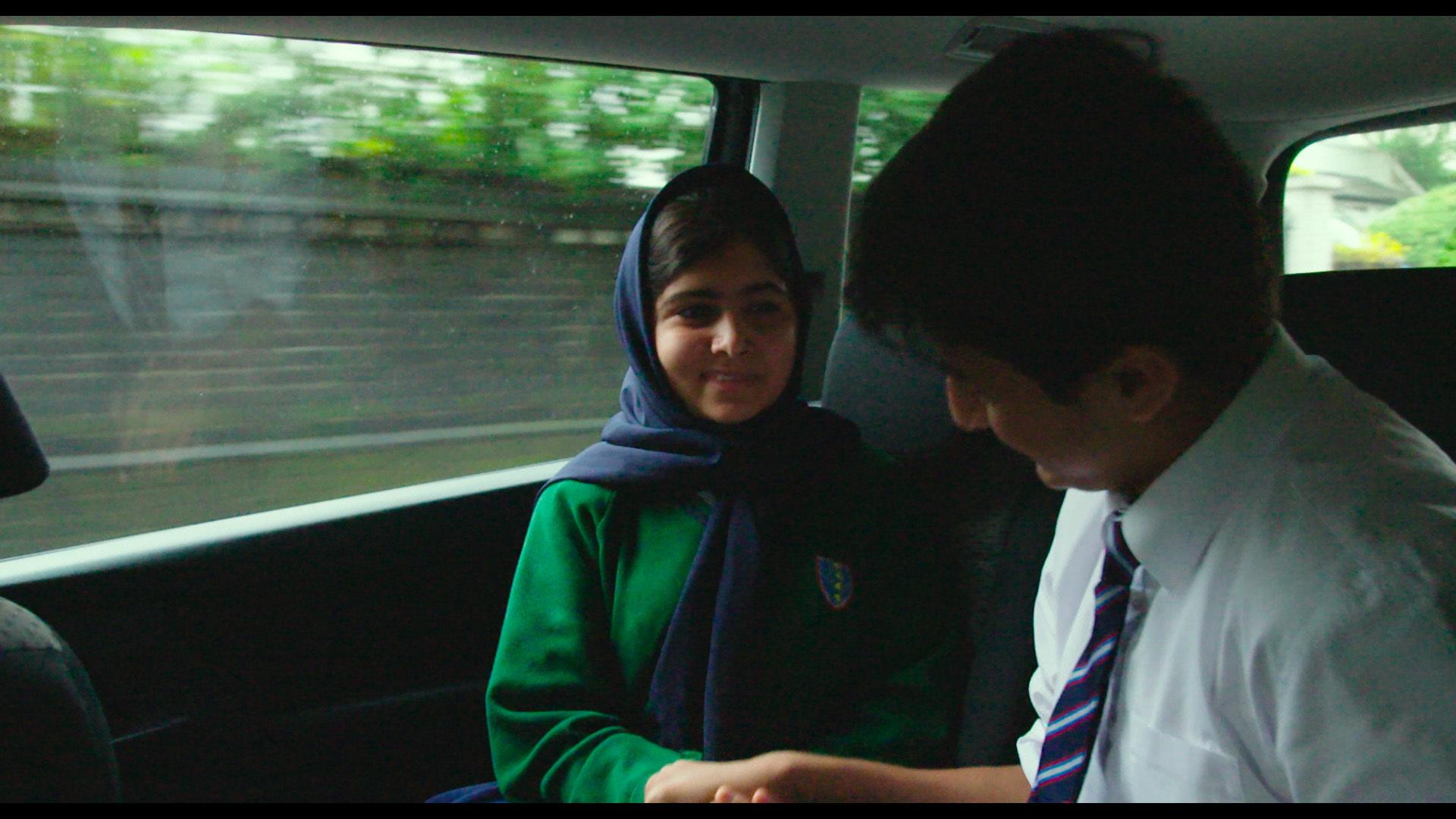 Malala Yousafzai and Khushal Yousafzai in Birmingham, England.