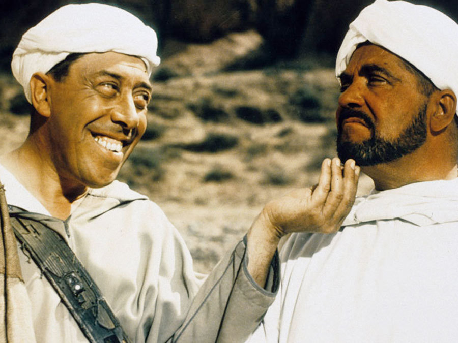 Fernandel and Henri Vilbert in Ali Baba et les 40 voleurs (1954)