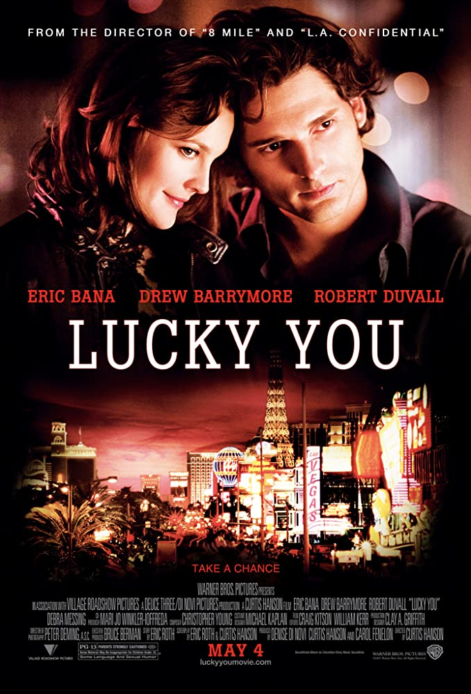 Drew Barrymore and Eric Bana in Lucky You (2007)