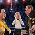 Chris Farley, Mills Lane, and Horatio Sanz in Celebrity Deathmatch (1998)