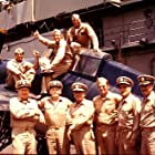 Charlton Heston, Dabney Coleman, Glenn Ford, Phillip R. Allen, Erik Estrada, Biff McGuire, Dennis Rucker, Gregory Walcott, and Robert Webber in Midway (1976)