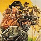 Curt Barrett, Smiley Burnette, Slim Duncan, Charles Starrett, Merle Travis, and The Bronco Busters in Galloping Thunder (1946)