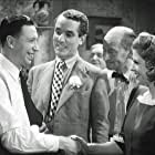 Marjorie Browne, Billy Caryll, George Formby, and Jack Daly in I Didn't Do It (1945)