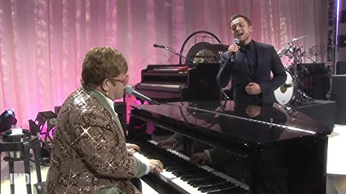 "Elton John and 'Rocketman' Star Taron Egerton Sing ""Tiny Dancer"""