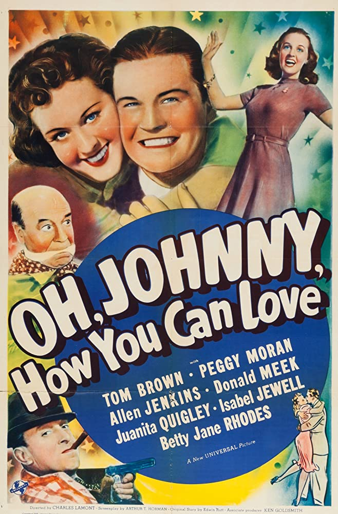 Tom Brown, Allen Jenkins, Donald Meek, Peggy Moran, and Betty Jane Rhodes in Oh, Johnny, How You Can Love! (1940)