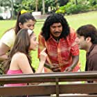 Vadivelu, Jayam Ravi, and Tamannaah Bhatia in Thillalangadi (2010)