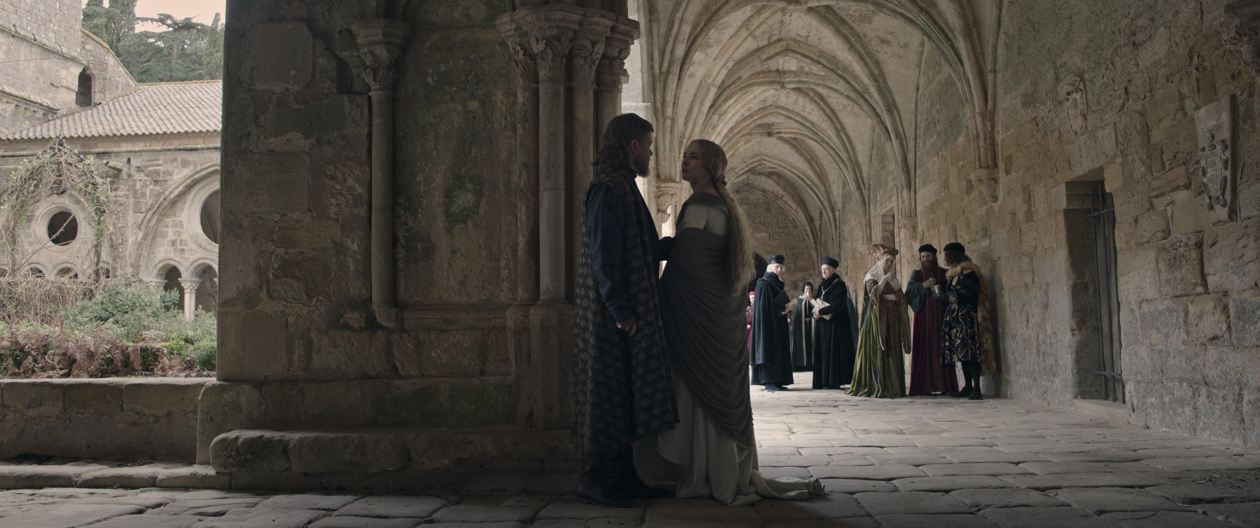 Matt Damon and Jodie Comer in The Last Duel (2021)