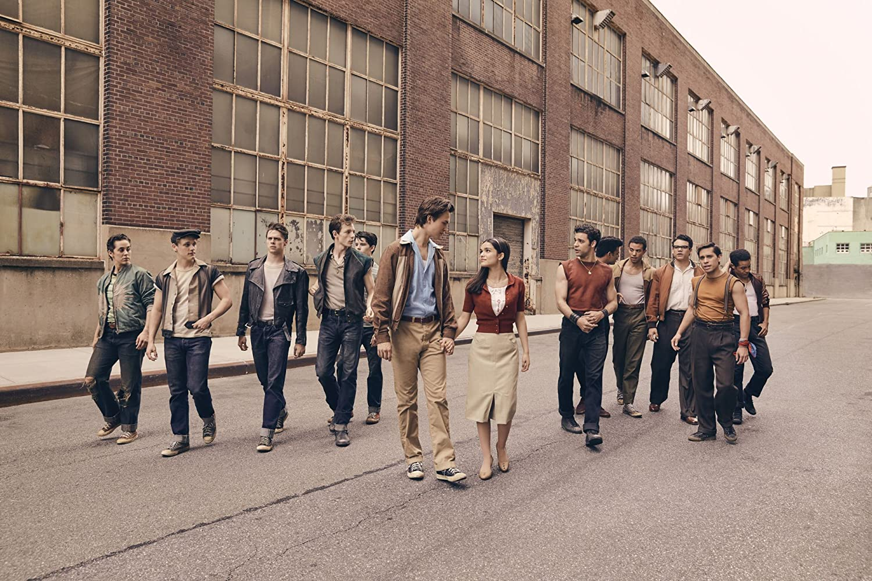 Rachel Zegler, Josh Andrés Rivera, Sean Harrison Jones, David Alvarez, Ben Cook, Mike Faist, Ansel Elgort, and Sebastian Serra in West Side Story (2020)