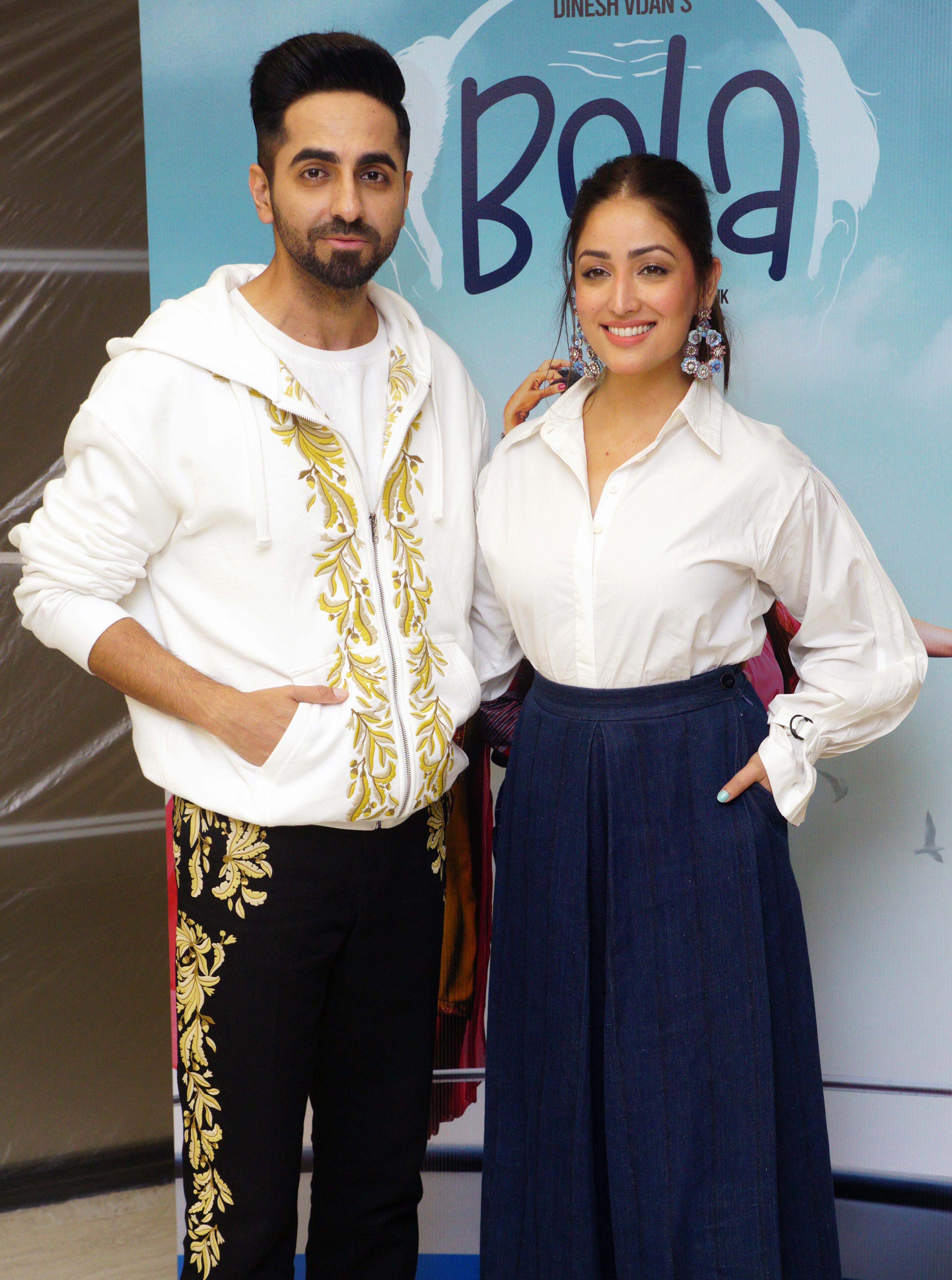 Yami Gautam and Ayushmann Khurrana at an event for Bala (2019)