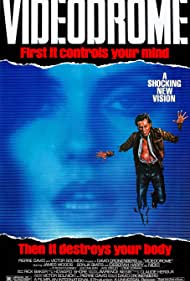 James Woods and Debbie Harry in Videodrome (1983)