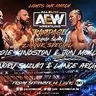 Lance Hoyt, Edward Moore, Minoru Suzuki, and Jonathan Good in All Elite Wrestling: Rampage (2021)