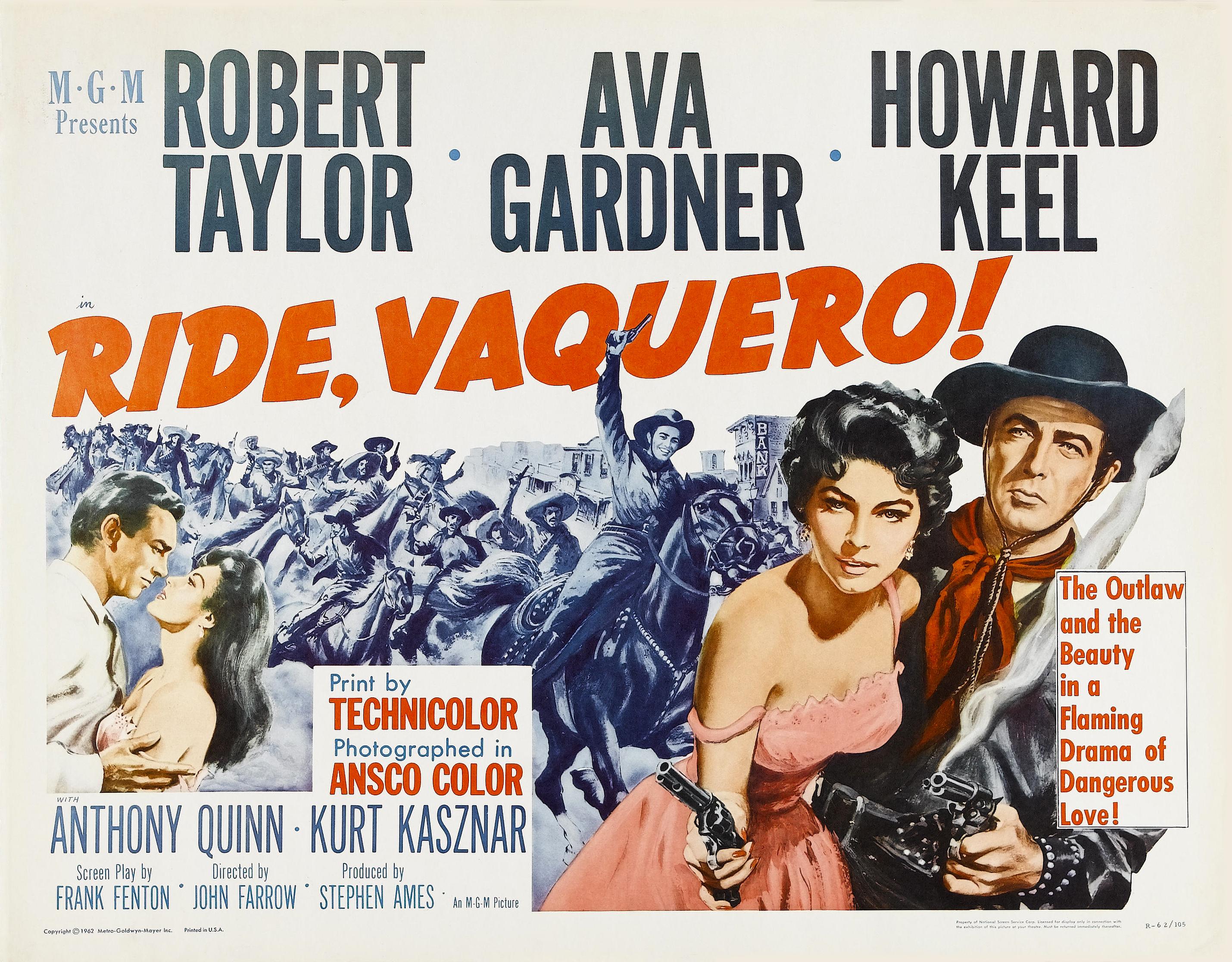 Ava Gardner, Robert Taylor, and Howard Keel in Ride, Vaquero! (1953)