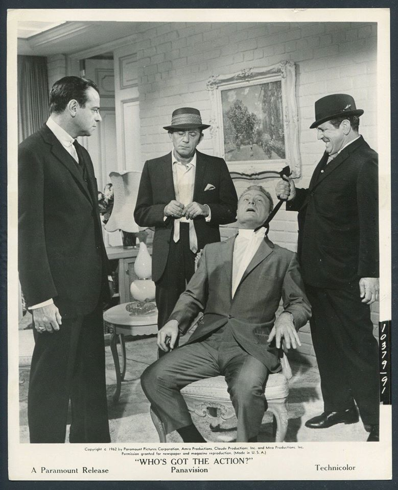 Walter Matthau, Eddie Albert, Mack Gray, and John Indrisano in Who's Got the Action? (1962)