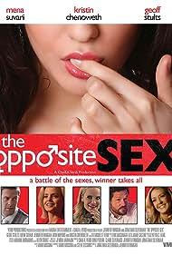 Mena Suvari, Josh Hopkins, Kristin Chenoweth, Jennifer Finnigan, and Geoff Stults in The Opposite Sex (2014)