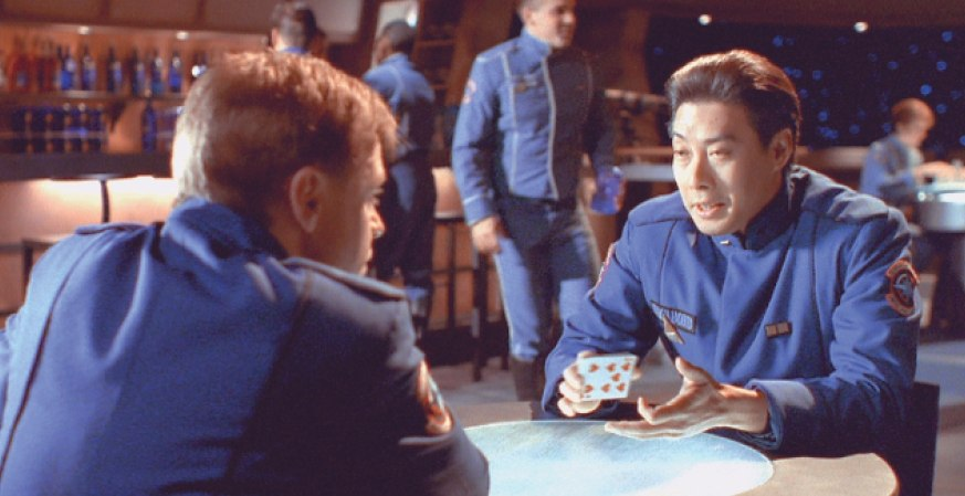 Mark Hamill and François Chau in Wing Commander IV: The Price of Freedom (1995)