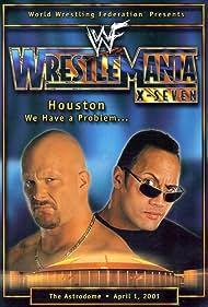 Steve Austin and Dwayne Johnson in WrestleMania X-Seven (2001)
