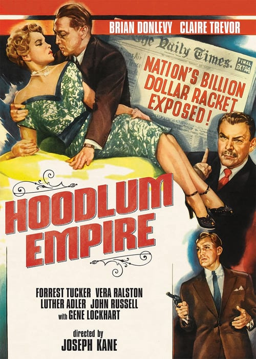Brian Donlevy, Luther Adler, Claire Trevor, and Forrest Tucker in Hoodlum Empire (1952)