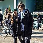 Charlie Tahan and Sarah Jeffery in Wayward Pines (2015)