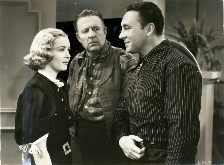 Joe Caits, George O'Brien, and Cecilia Parker in Hollywood Cowboy (1937)