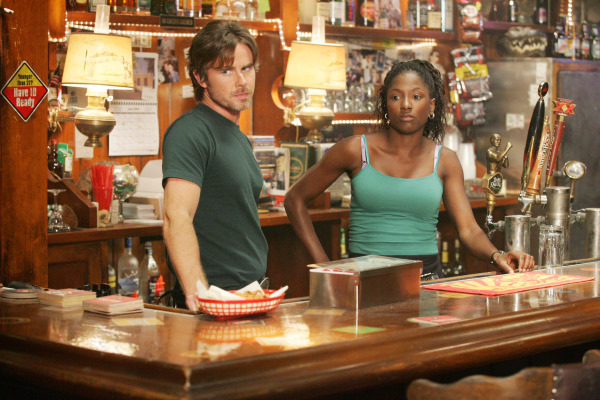 Sam Trammell and Rutina Wesley in True Blood (2008)