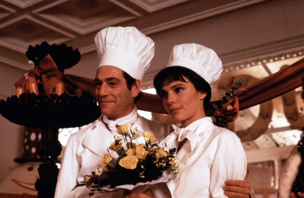 Jacqueline Bisset and George Segal in Who Is Killing the Great Chefs of Europe? (1978)