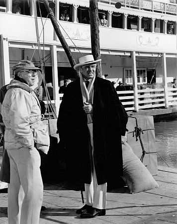 """Clark Gable on location for """"Band Of Angels."""""""