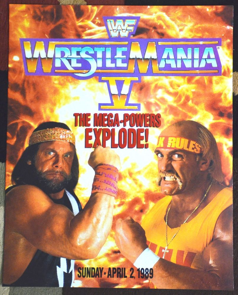Image result for WrestleMania 5 Poster