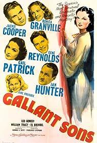 Jackie Cooper, Bonita Granville, Ian Hunter, Gail Patrick, June Preisser, and Gene Reynolds in Gallant Sons (1940)