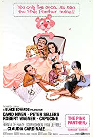 David Niven, Peter Sellers, Capucine, Claudia Cardinale, and Robert Wagner in The Pink Panther (1963)