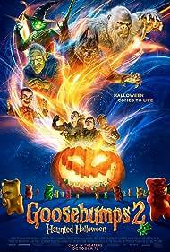 Mick Wingert, Caleel Harris, Jeremy Ray Taylor, and Madison Iseman in Goosebumps 2: Haunted Halloween (2018)