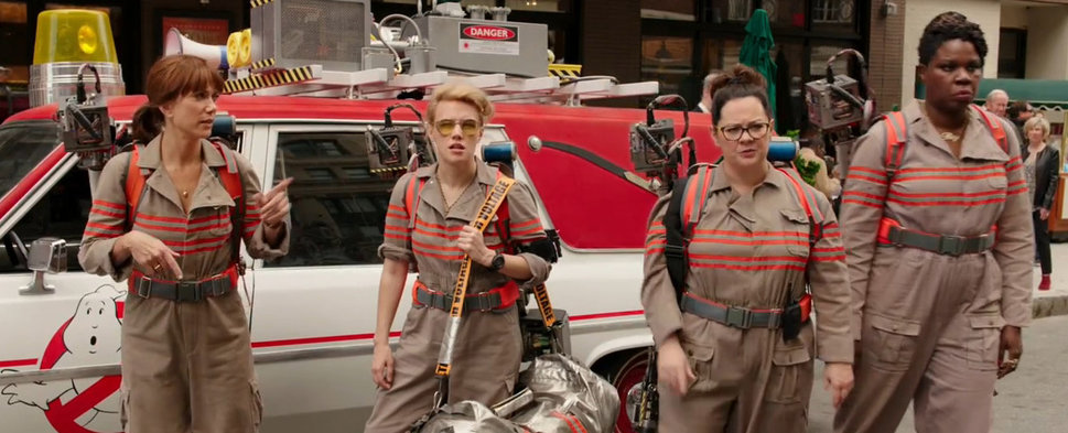 Leslie Jones, Melissa McCarthy, Kate McKinnon, and Kristen Wiig in Ghostbusters (2016)