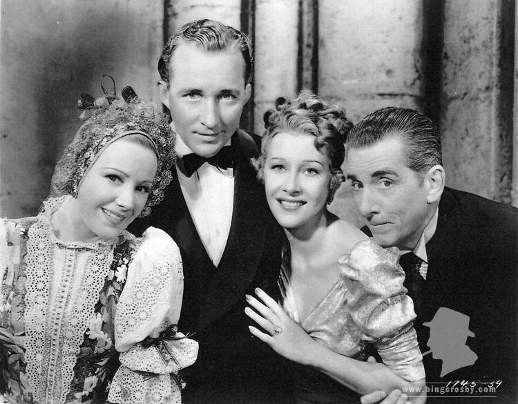 Bing Crosby, Edward Everett Horton, Franciska Gaal, and Shirley Ross in Paris Honeymoon (1939)