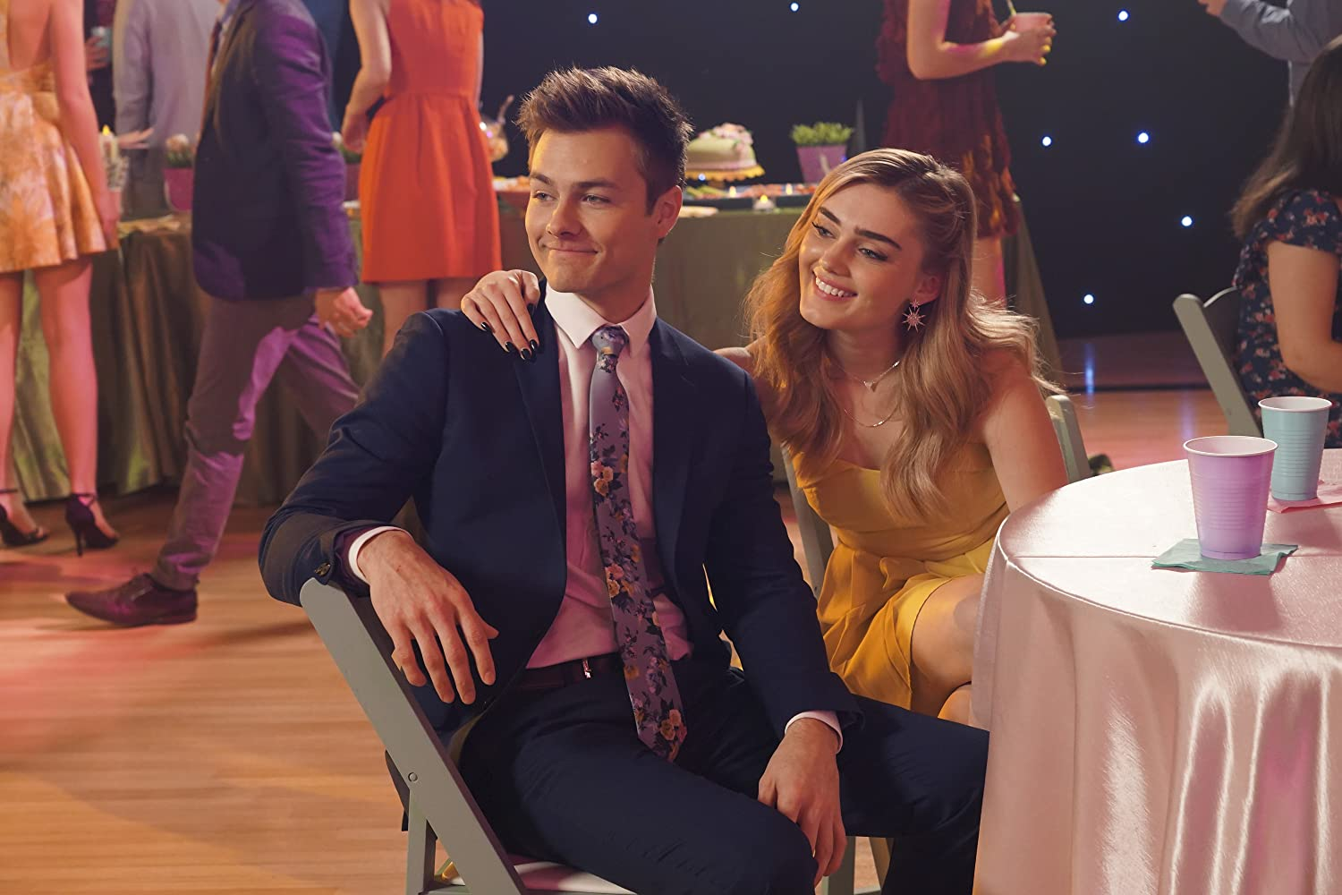 Peyton Meyer and Meg Donnelly in American Housewife (2016)