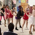Vanessa Lengies, Lea Michele, Naya Rivera, Dianna Agron, Jenna Ushkowitz, Amber Riley, and Heather Morris in Glee (2009)