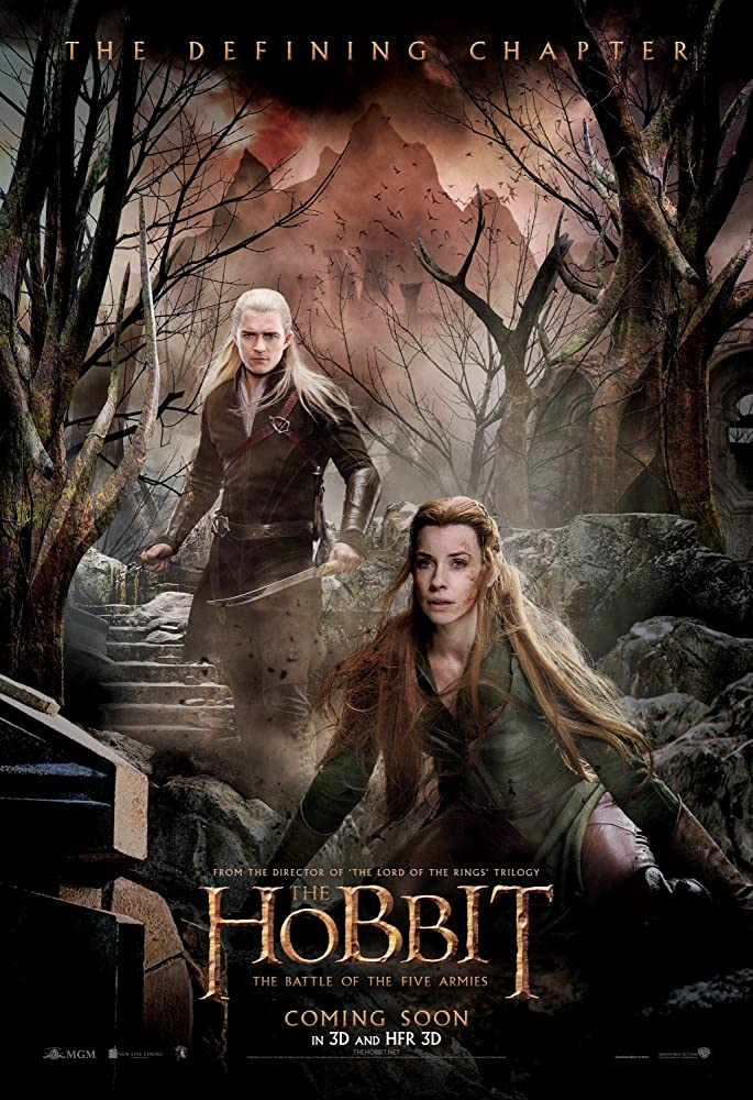 Orlando Bloom and Evangeline Lilly in The Hobbit: The Battle of the Five Armies (2014)
