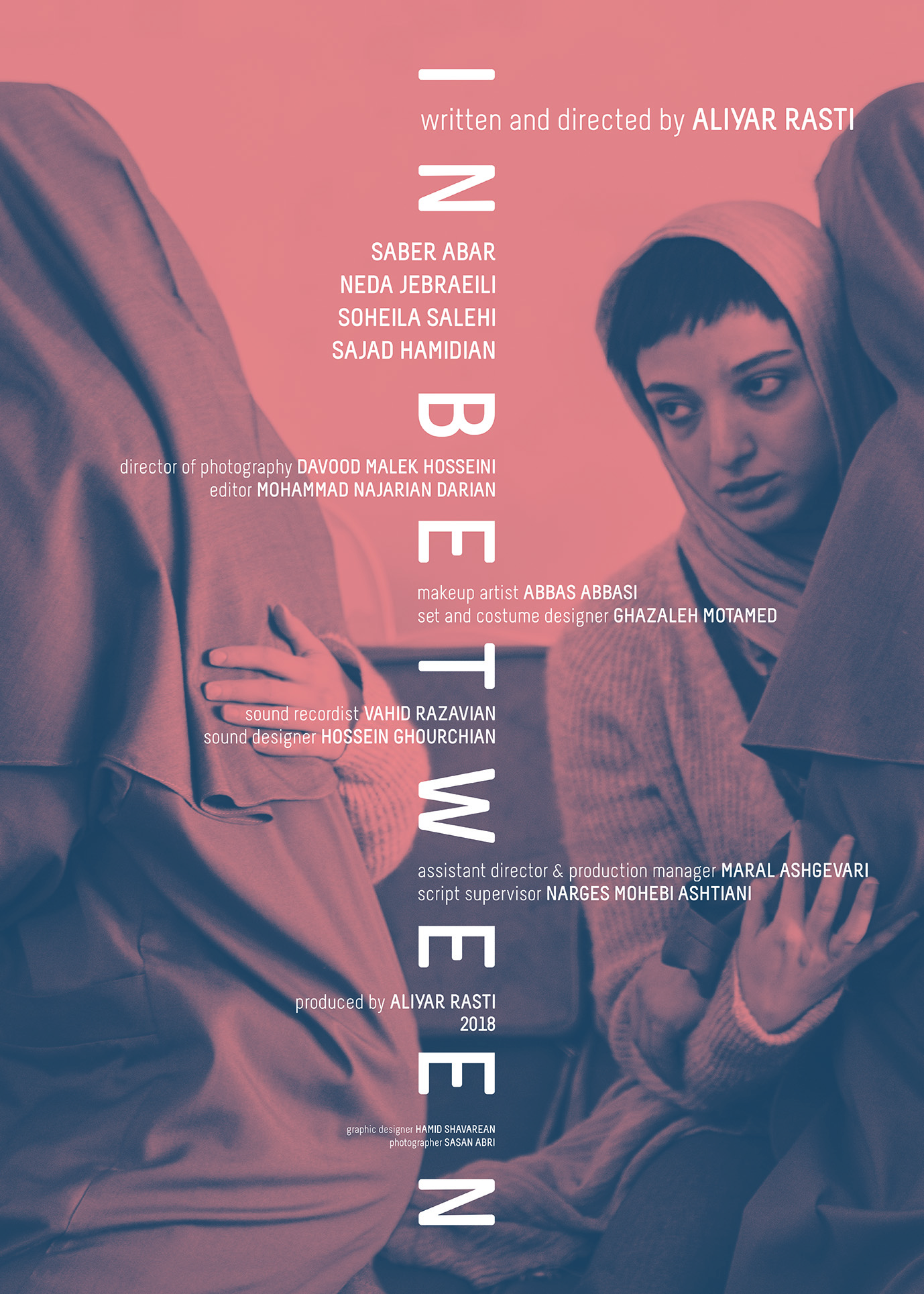 Saber Abar, Neda Jebraeili, Aliyar Rasti, and Soheila Salehi in In Between (2018)