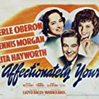 Rita Hayworth, Dennis Morgan, and Merle Oberon in Affectionately Yours (1941)