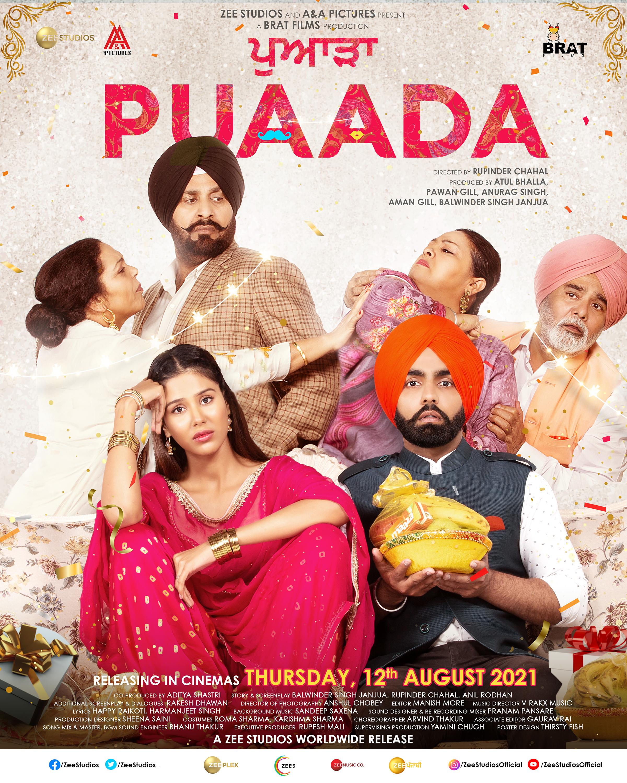Puaada 2021 Punjabi Full Movie 480p PreDvDRip x264 400MB Download