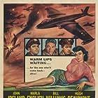 Chet Baker, Hugh Beaumont, Marla English, John Ireland, and Bill Williams in Hell's Horizon (1955)