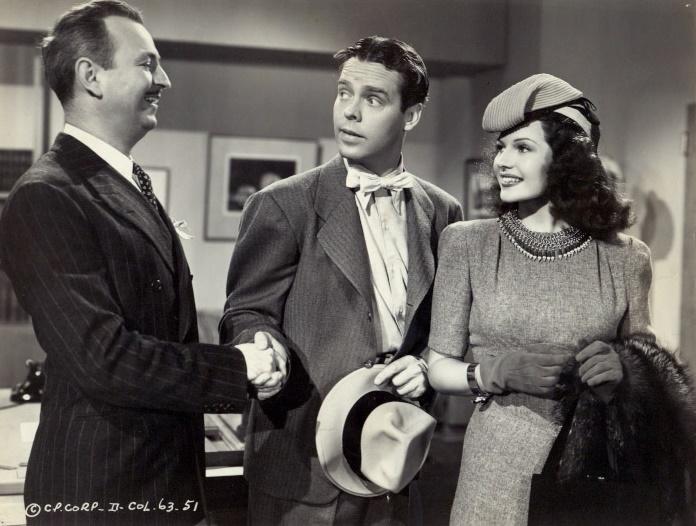 Rita Hayworth, William Brisbane, and Arthur Lake in Blondie on a Budget (1940)