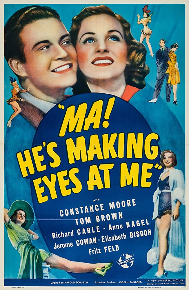 Tom Brown and Constance Moore in Ma! He's Making Eyes at Me (1940)