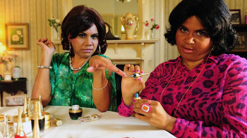 Deborah Mailman and Elizabeth Wymarra in Black Comedy (2014)